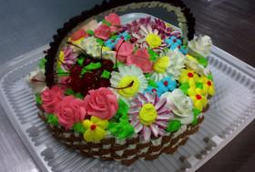 Торт «Корзина»