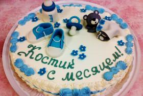 Торт на 1 месяц малышу