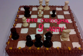 Торт юному шахматисту