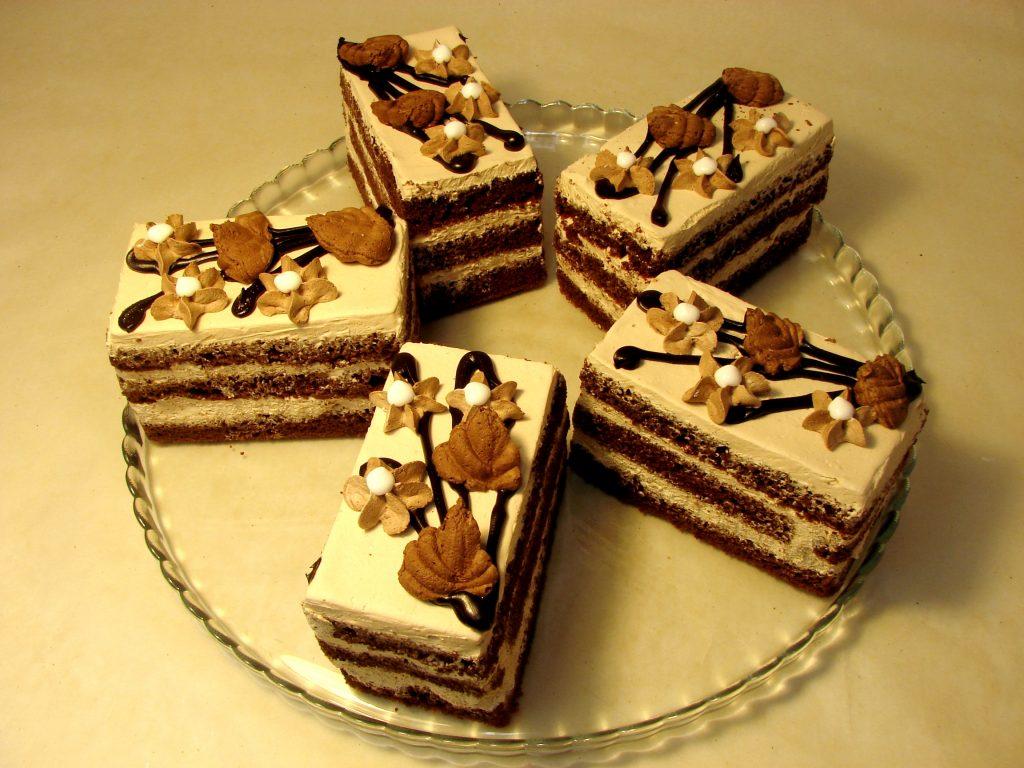 Пирожное бисквитно-шоколадное